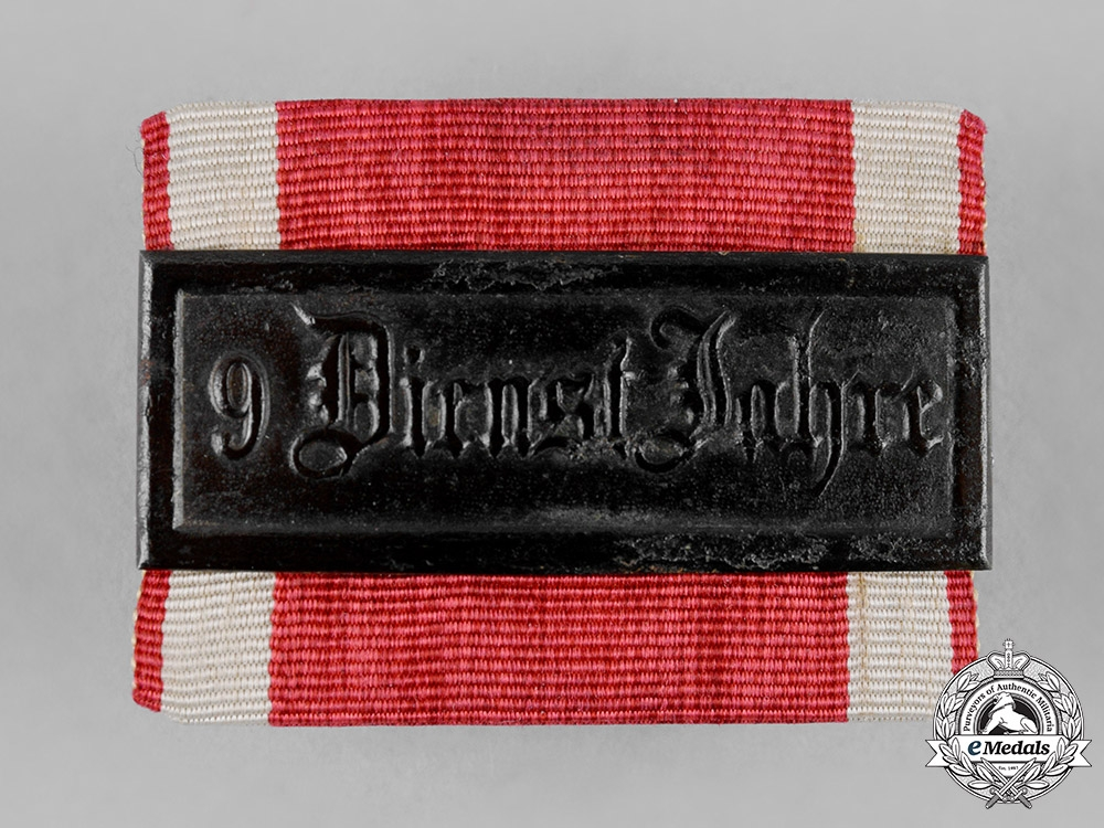 eMedals-Hesse-Darmstadt, Grand Duchy. A 9-Year Long Service Clasp, III Class