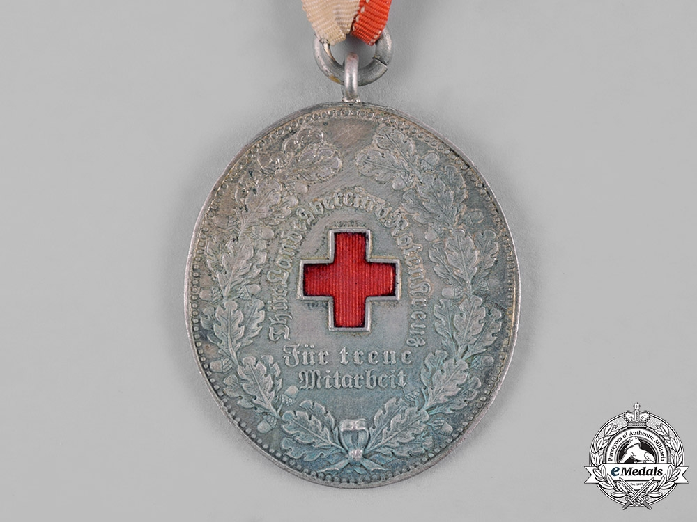eMedals-Thuringia, State. A Medal for Loyal Cooperation of the Red Cross