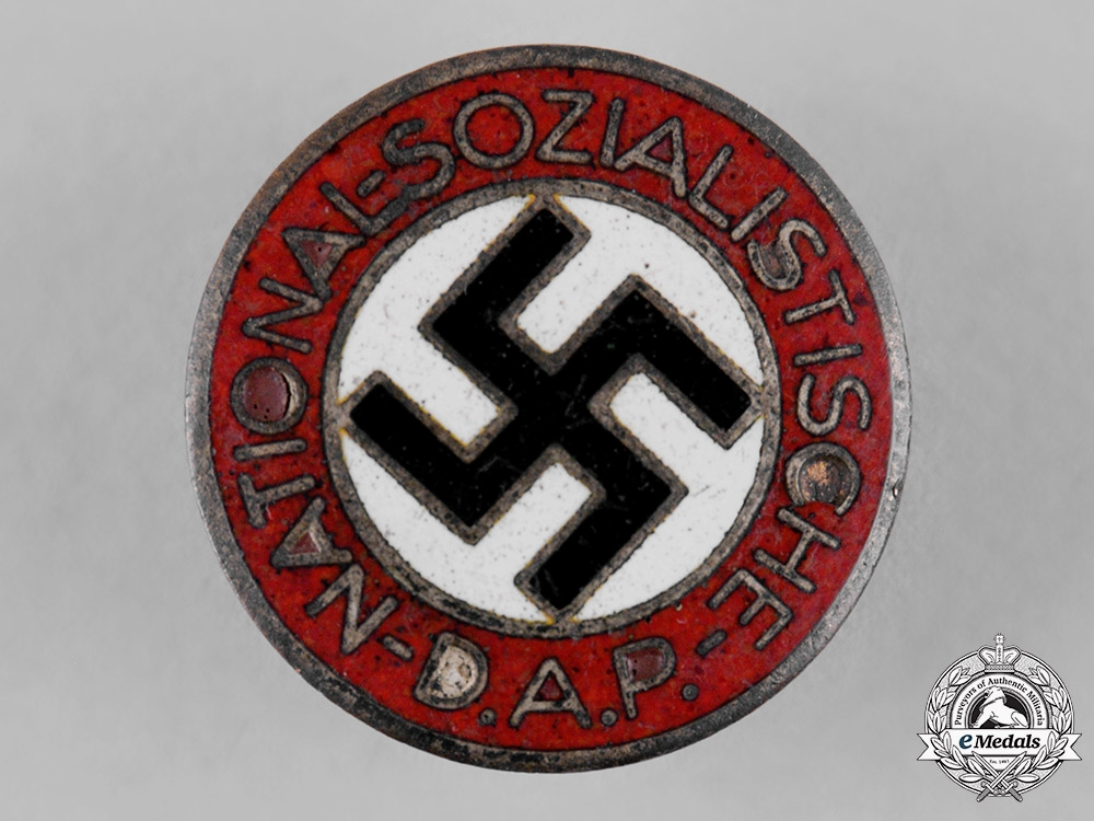 eMedals-Germany, NSDAP. A Party Member's Buttonhole Badge, by Hermann Aurich
