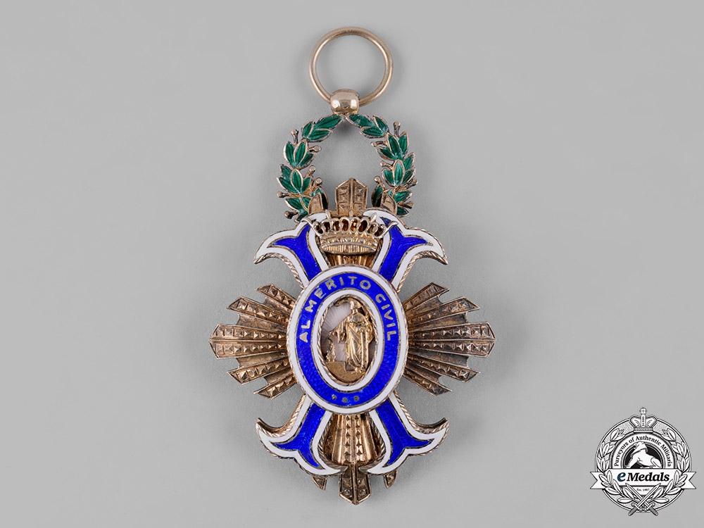eMedals-Spain, Franco Period. An Order of Civil Merit, I Class Grand Cross, c.1950