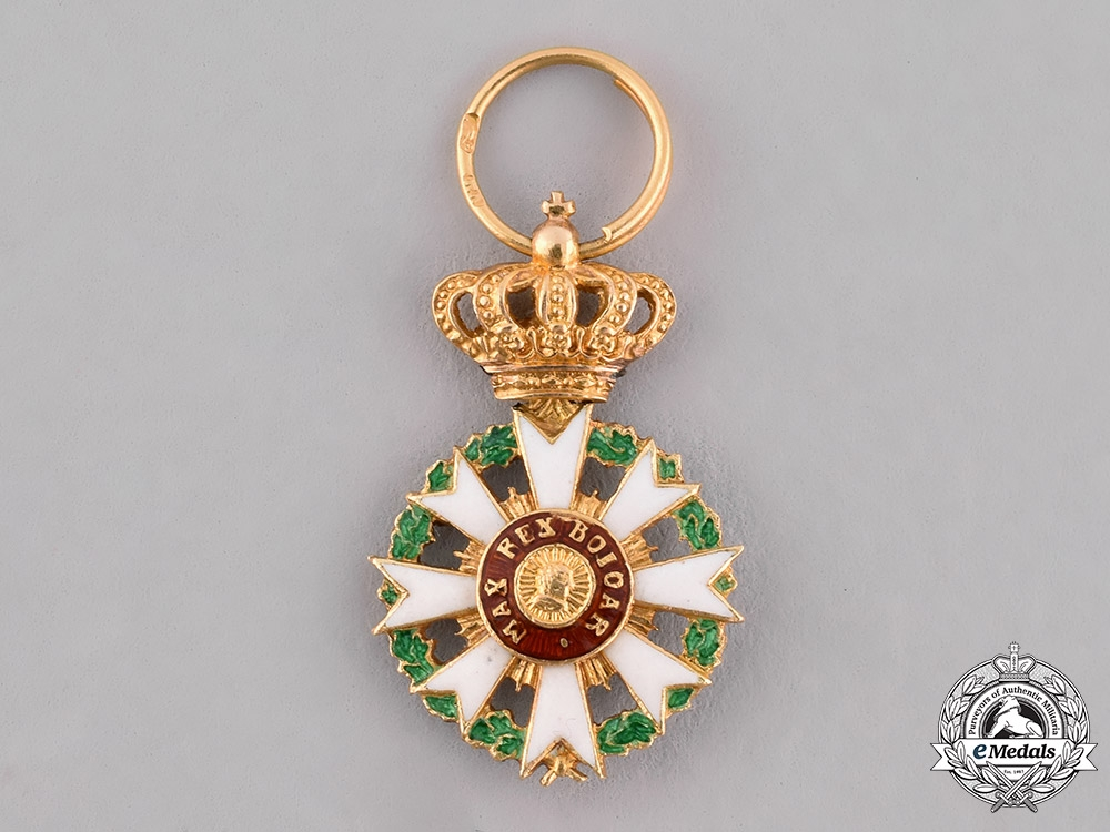 eMedals-Bavaria, Kingdom. A Miniature Order of Merit of the Crown in Gold, Knight's Cross, c.1900