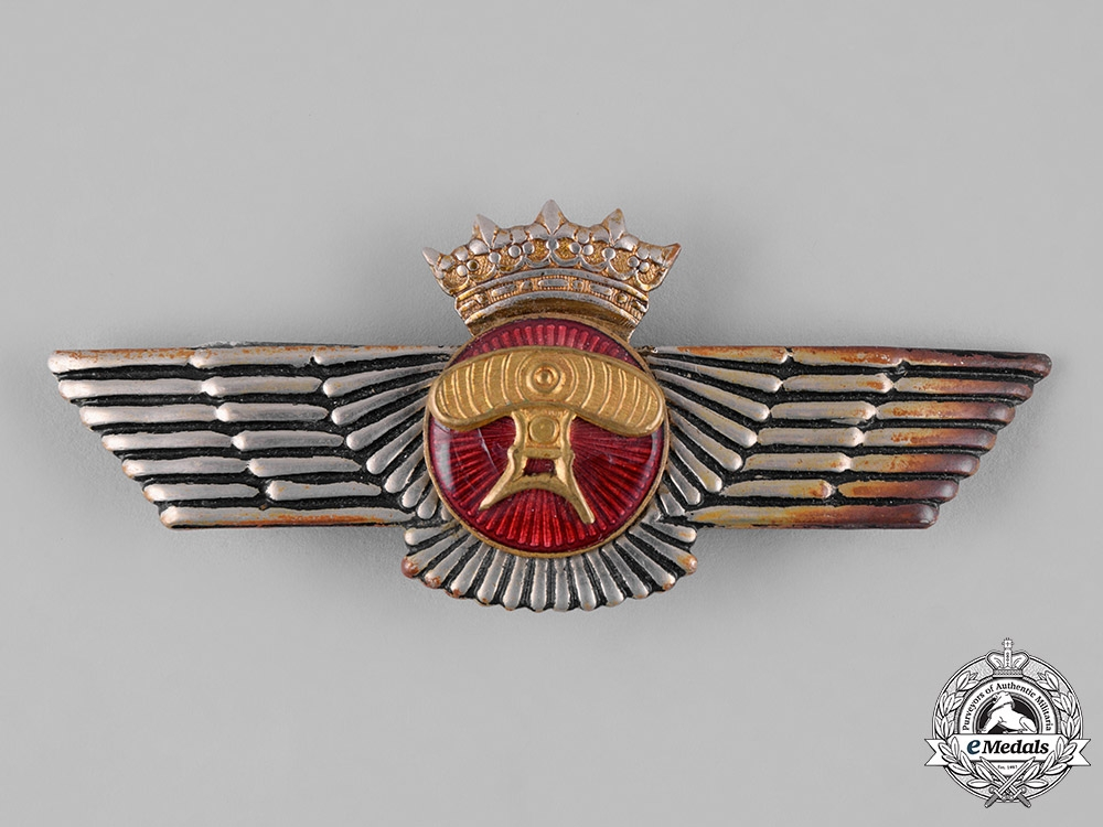 eMedals-Spain, Franco Period. An Air Force Airborne Protection (Radar) Wings, c.1938