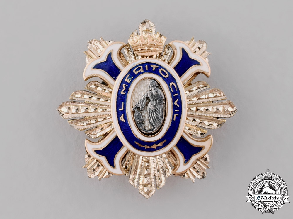 eMedals-Spain, Kingdom. An Order of Civil Merit Miniature Boutonniere