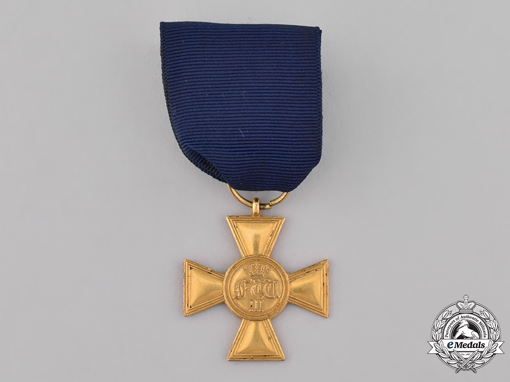 eMedals-Prussia, Kingdom. A 25-Year Long Service Cross, c.1865