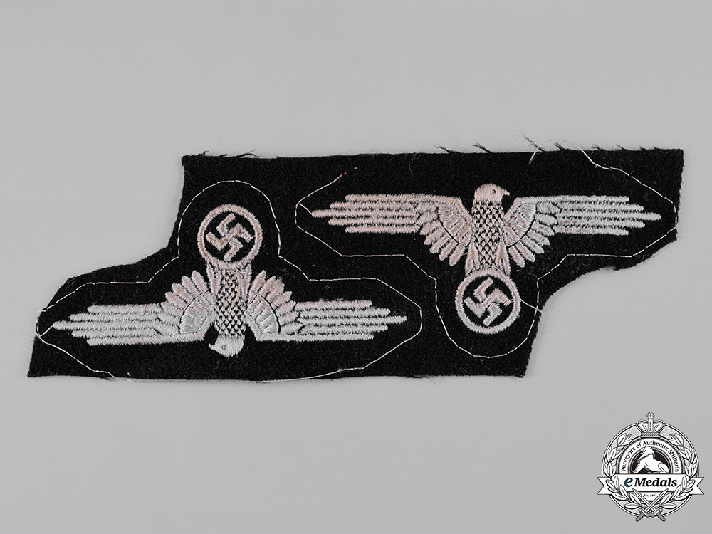 """eMedals-Germany, SS. A Pair of """"Uncut"""" EM/NCO's Sleeve Eagles"""