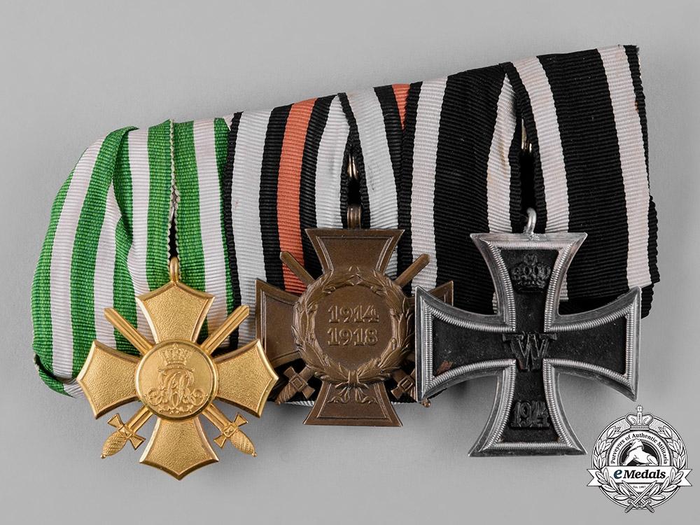 eMedals-Saxony, Kingdom. A Saxony General Honour Cross Medal Bar