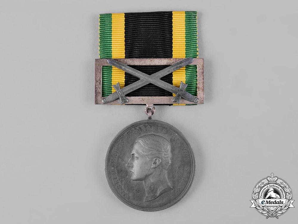 eMedals-Saxe-Weimar-Eisenach, Duchy. A General Honour Badge with Swords, Silver Grade