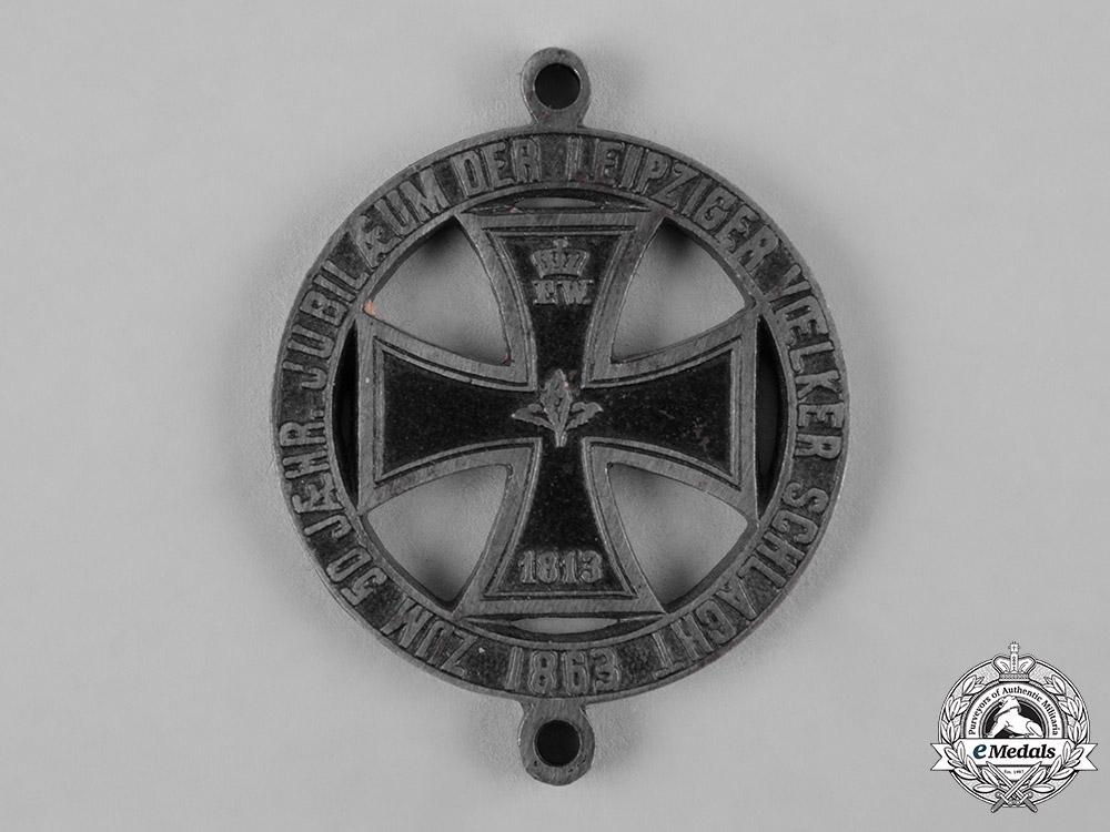 eMedals-Prussia, Kingdom. A Battle of Leipzig 50th Anniversary Medal