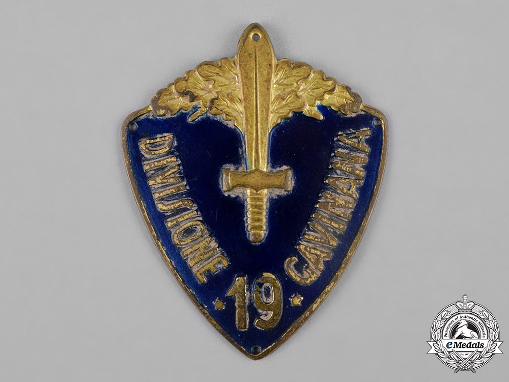 "eMedals-Italy, Kingdom. A 19th Infantry Division ""Gavinana""  Italo-Ethiopian War Sleeve Badge"
