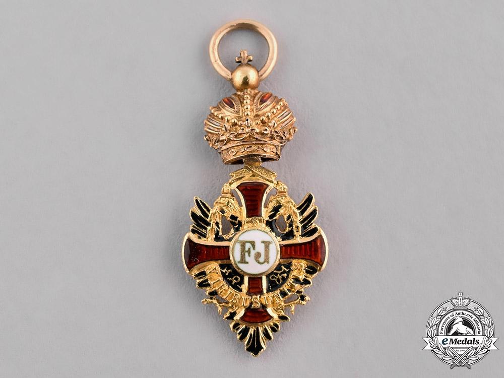 eMedals-Austria, Imperial. An Order of Franz Joseph in Gold, Miniature, c.1900