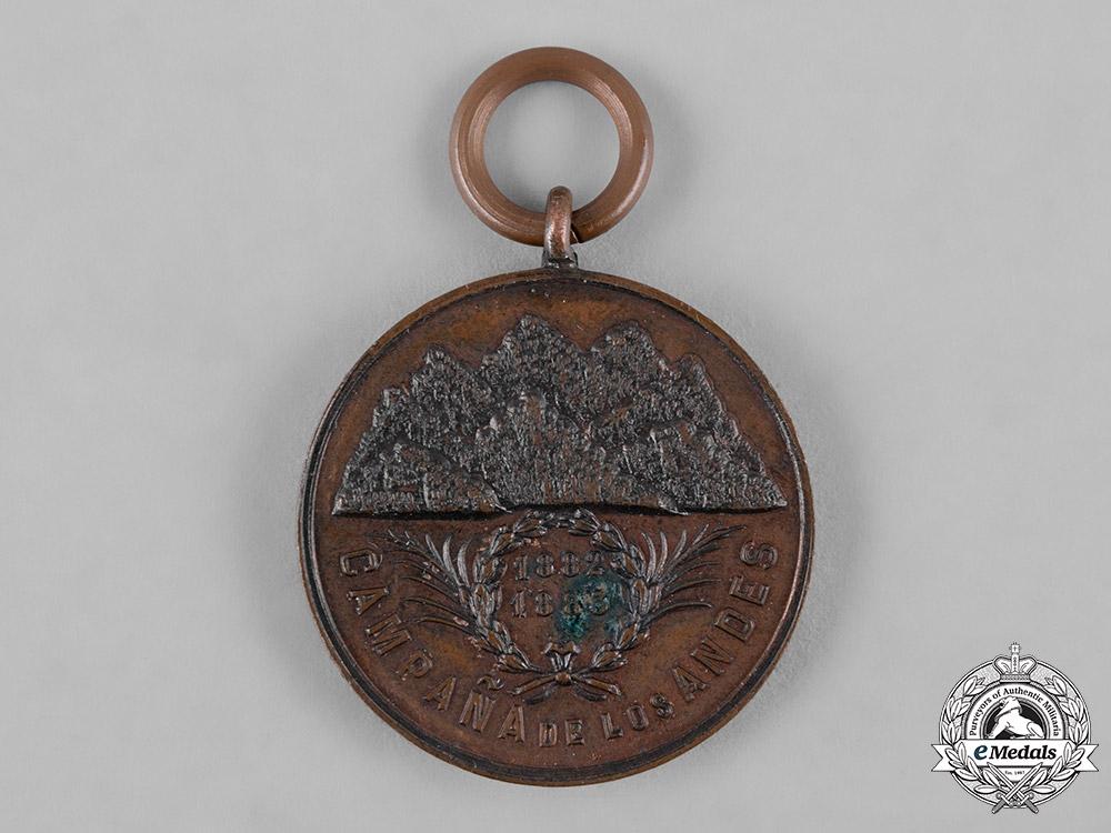 eMedals-Argentina, Republic. An Andes Campaign Medal 1882-1883, III Class, Bronze Grade