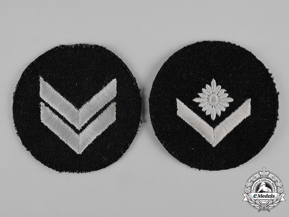 eMedals-Germany, HJ. A Pair of Marine Rank Insignia