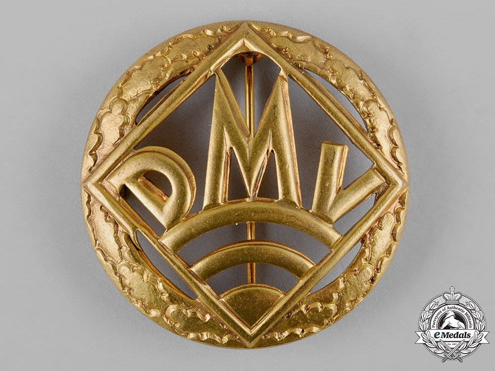 eMedals-Germany, DMV. A German Motorsports Association (DMV) Golden Merit Badge