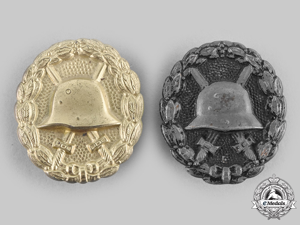 eMedals-Germany, Imperial. A Pair of Wound Badges
