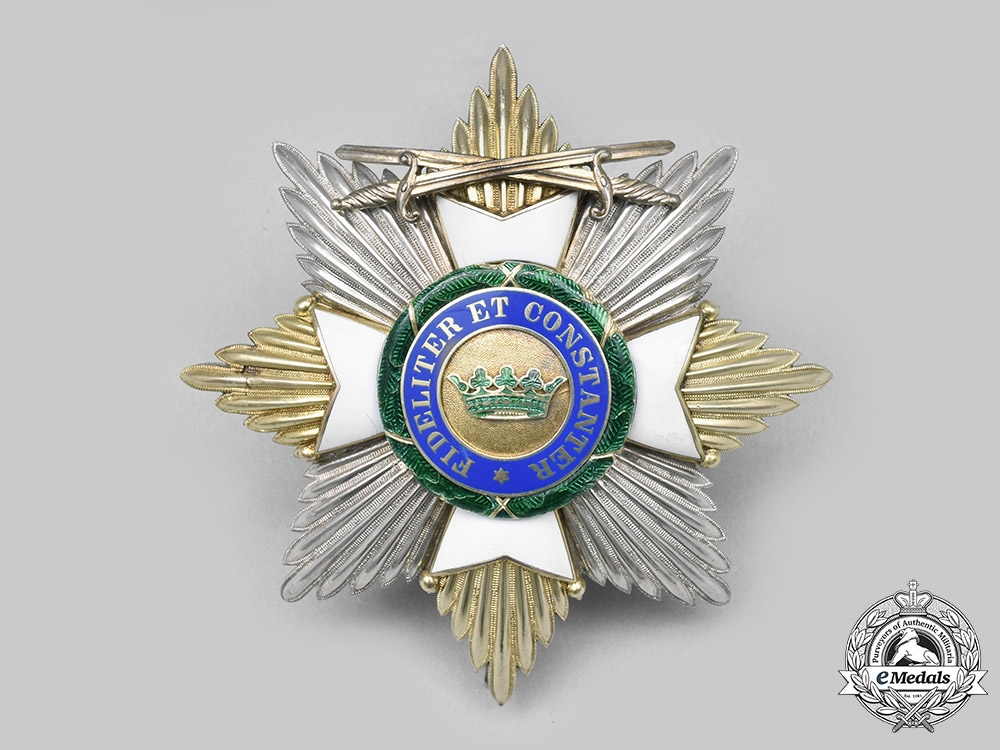eMedals-Saxe-Ernestine, Duchy. A House Order of Saxe-Ernestine, Grand Cross Star, Military Division, c. 1940