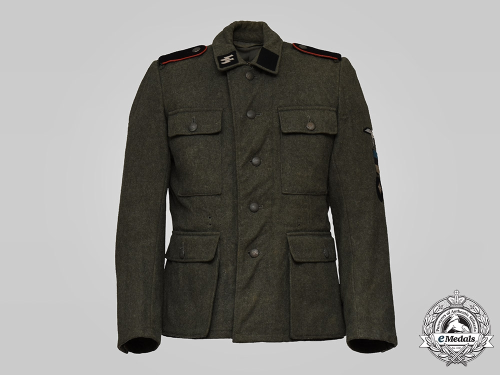 eMedals-Germany, SS. A Rare 20th Waffen Grenadier Division of the SS (1st Estonian) Volunteer's M43 Tunic