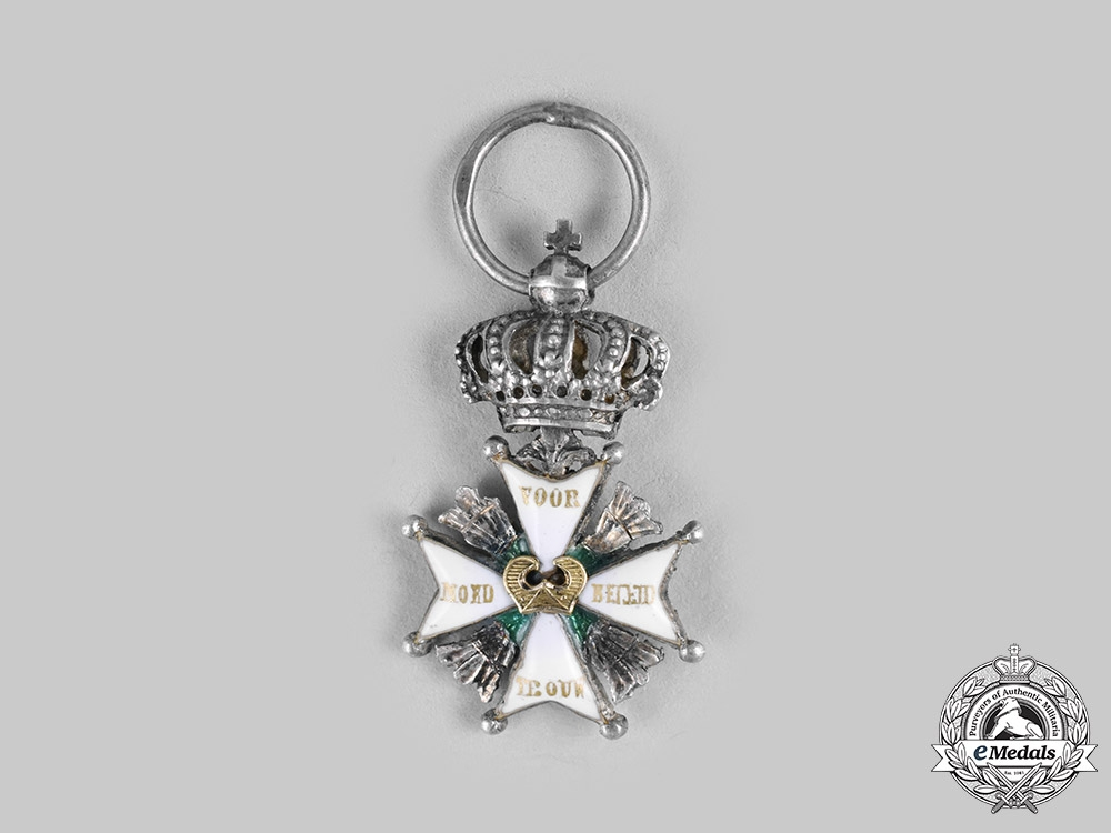 eMedals-Netherlands, Kingdom. A Military Order of William, Miniature, c.1875