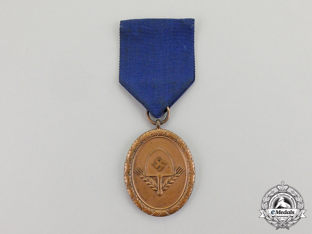 eMedals- Germany. An RAD (National Labour Service) Long Service Award; 4th Class Light Version