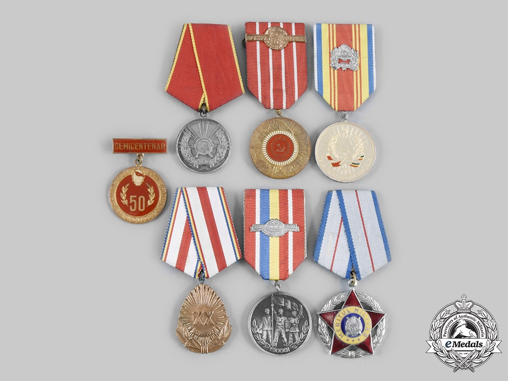 eMedals-Romania, People's Republic. A Lot of Seven Awards