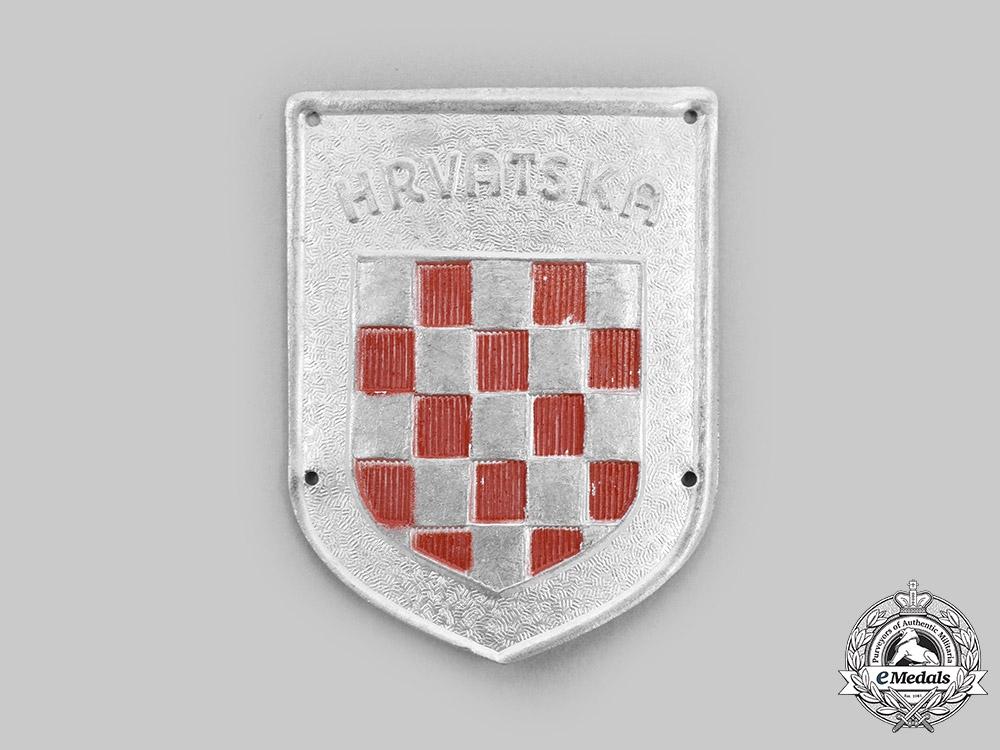 "eMedals-Germany. A ""Hrvatska"" Wehrmacht Volunteer Shield"