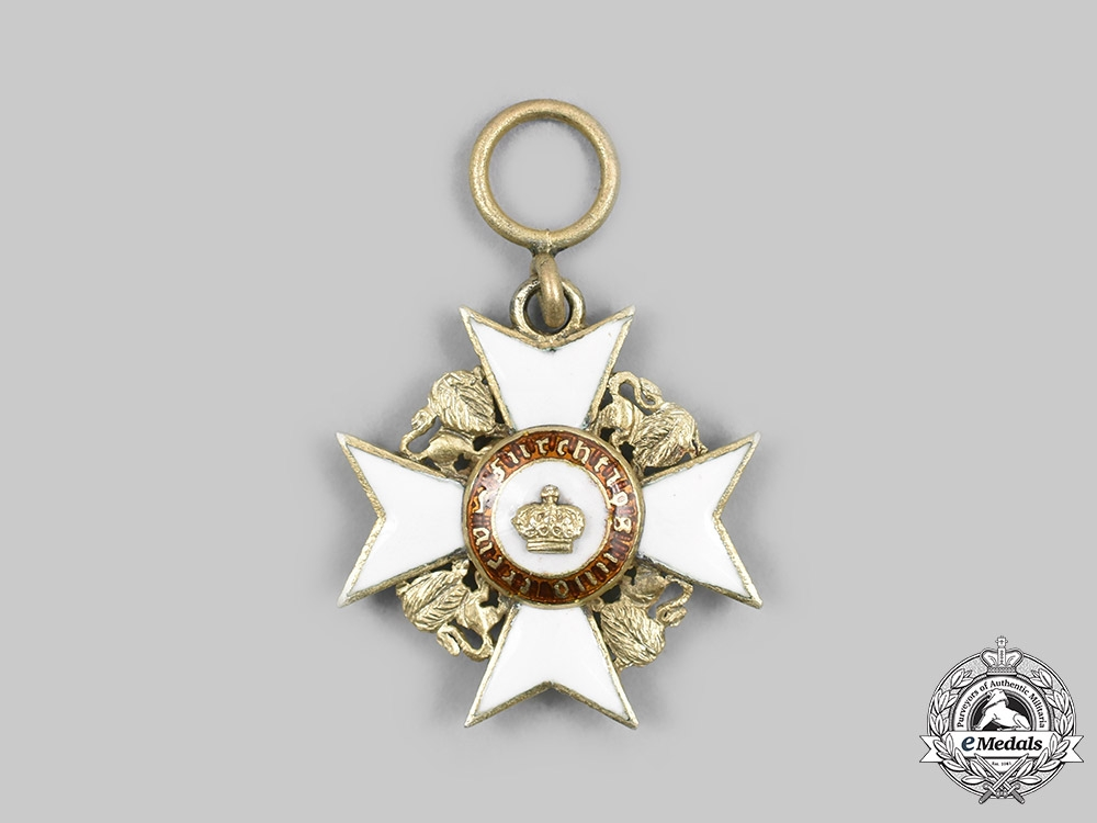 eMedals-Wurttemberg, Kingdom. An Order of the Wurttemberg Crown, Miniature, c. 1895