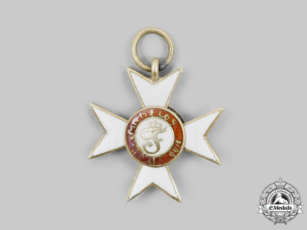 eMedals-Wurttemberg, Kingdom. An Order of the Wurttemberg Crown, Miniature, c. 1900