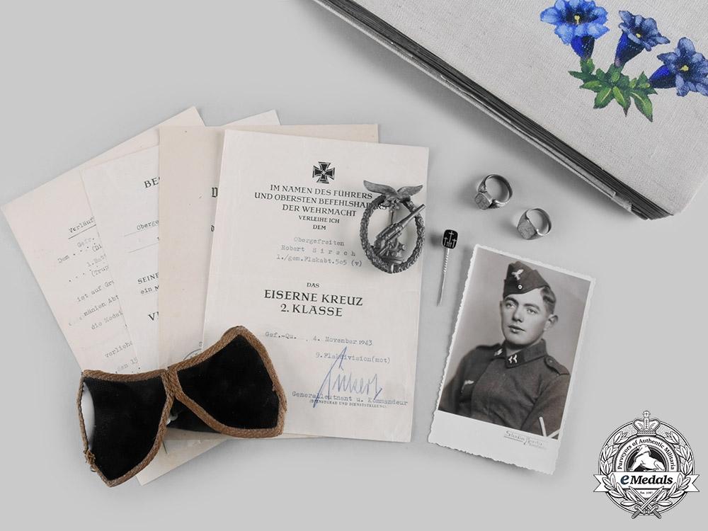 eMedals-Germany, Luftwaffe. The Estate of Crimea-Stationed Flak Obergefreiter Rupert Sirch (EK2)