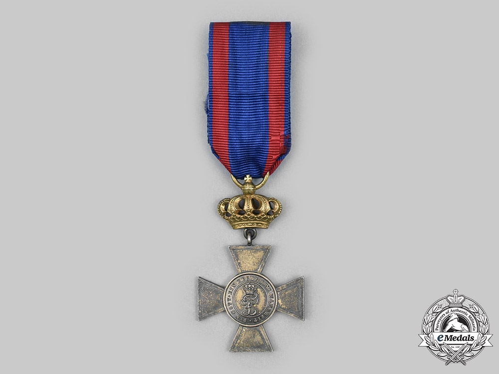 eMedals-Oldenburg, Grand Duchy. A House & Merit Order of Peter Friedrich Ludwig, I Class Honour Cross with Crown, c. 1900