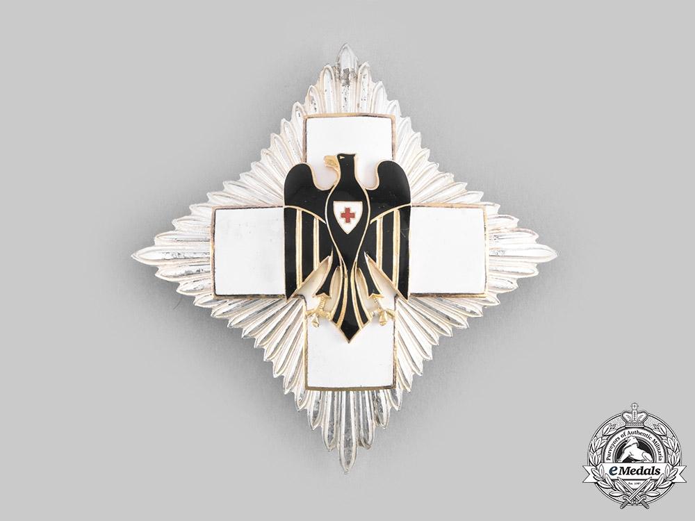 eMedals-Germany, DRK. A Red Cross Honour Badge Breast Star, by Gebrüder Godet & Co.