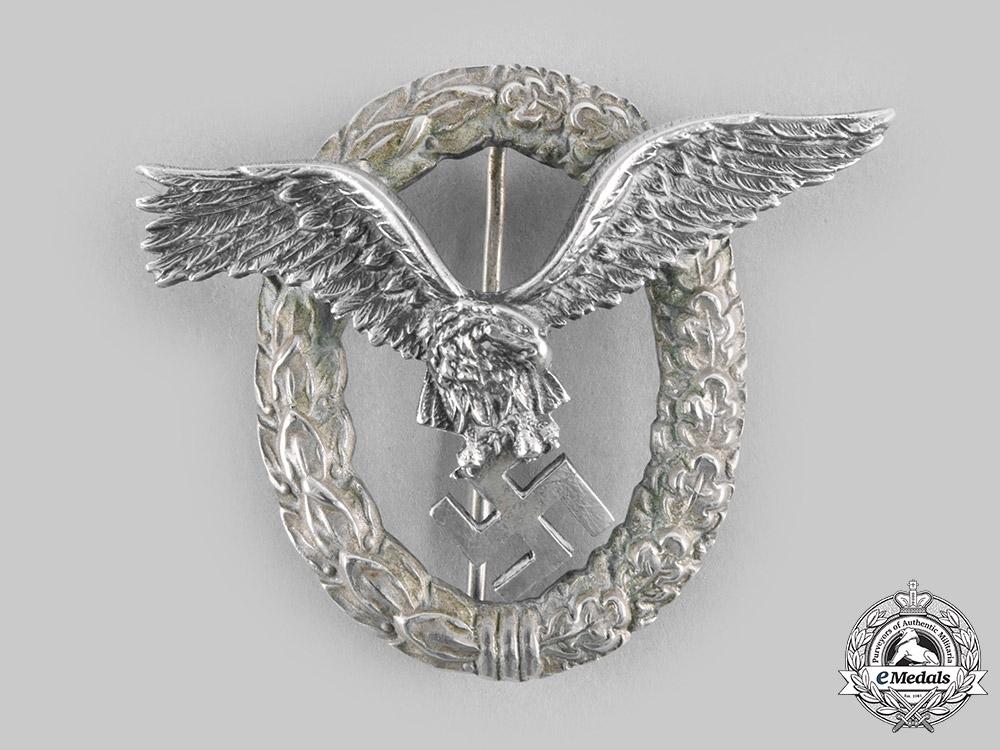 eMedals-Germany, Luftwaffe. A Pilot's Badge, by C.E. Juncker