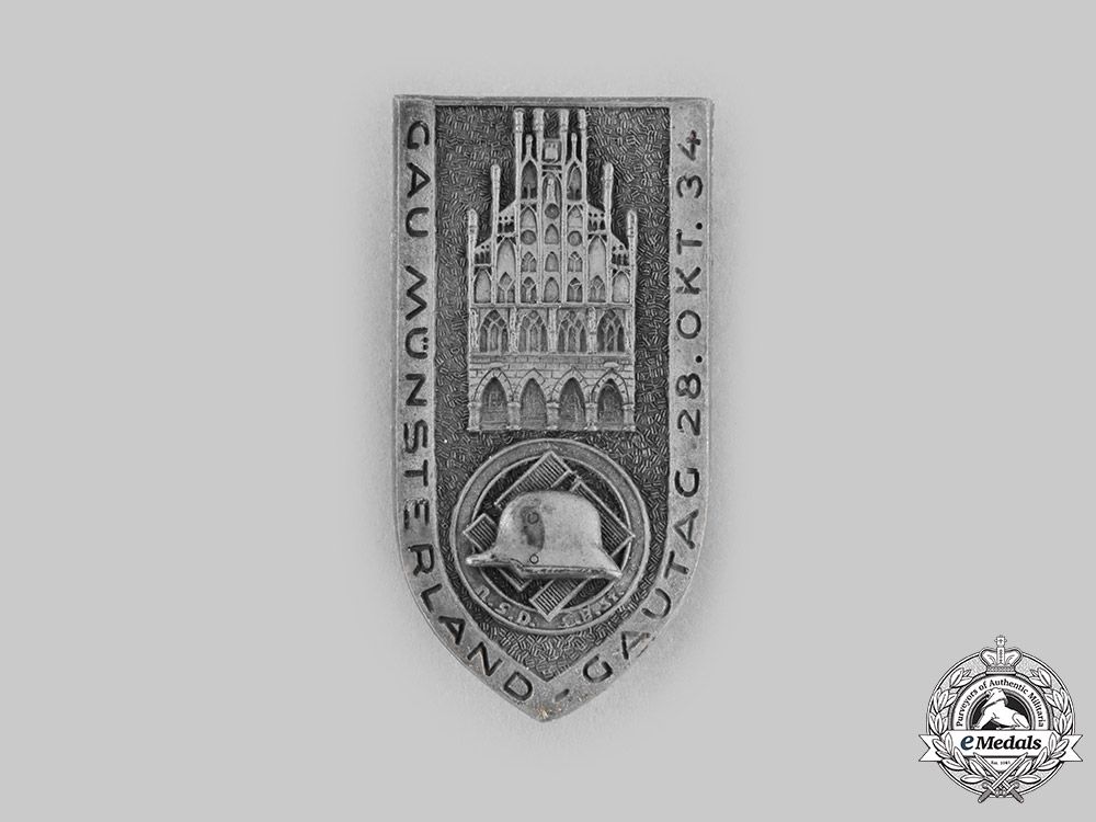 eMedals-Germany, Third Reich. A 1934 Gau Münsterland Gautag Commemorative Badge