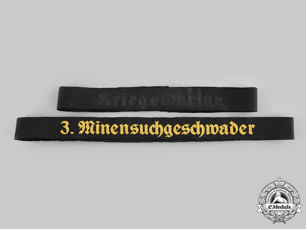 eMedals-Germany, Kriegsmarine. A Pair of Cap Tally Ribbons