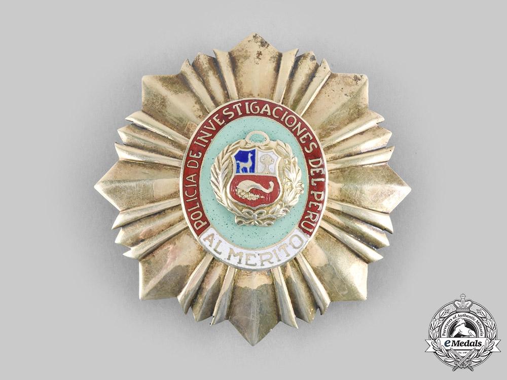 eMedals-Peru, Republic. An Order of Police Merit, Investigative Police Star, c.1955