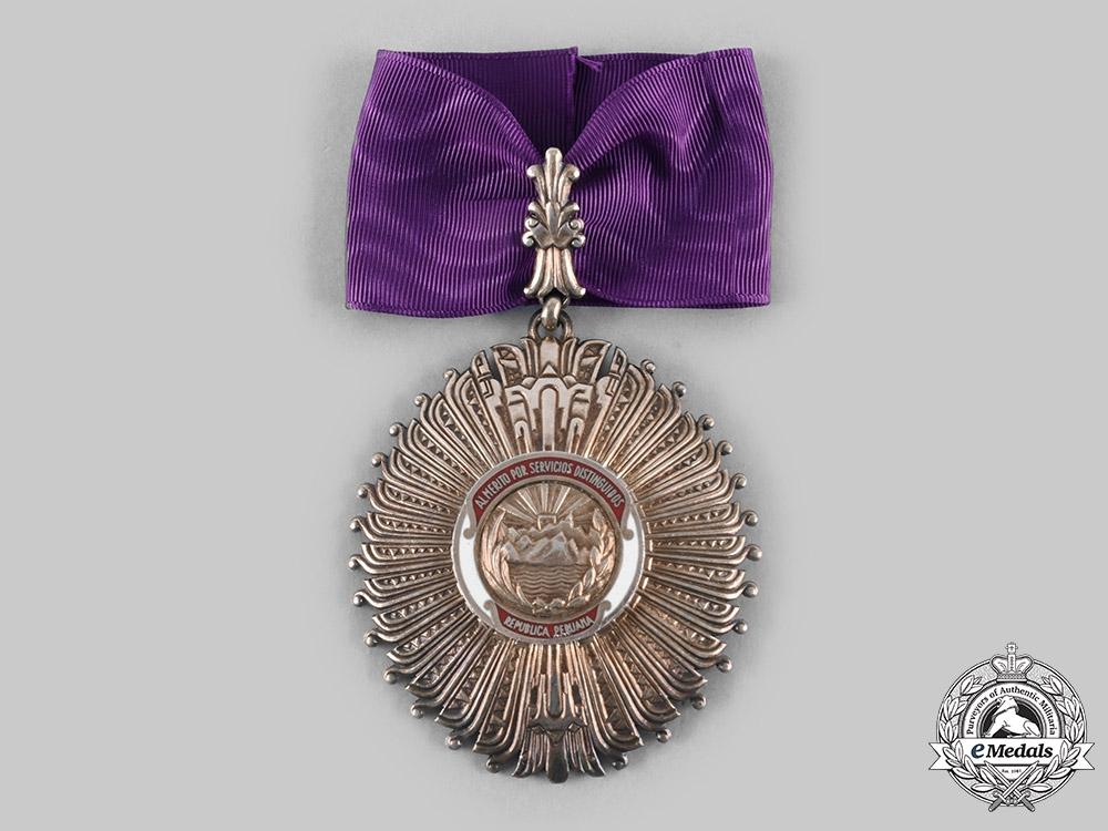 eMedals-Peru, Republic. An Order of Merit for Distinguished Service, III Class Commander, c.1955