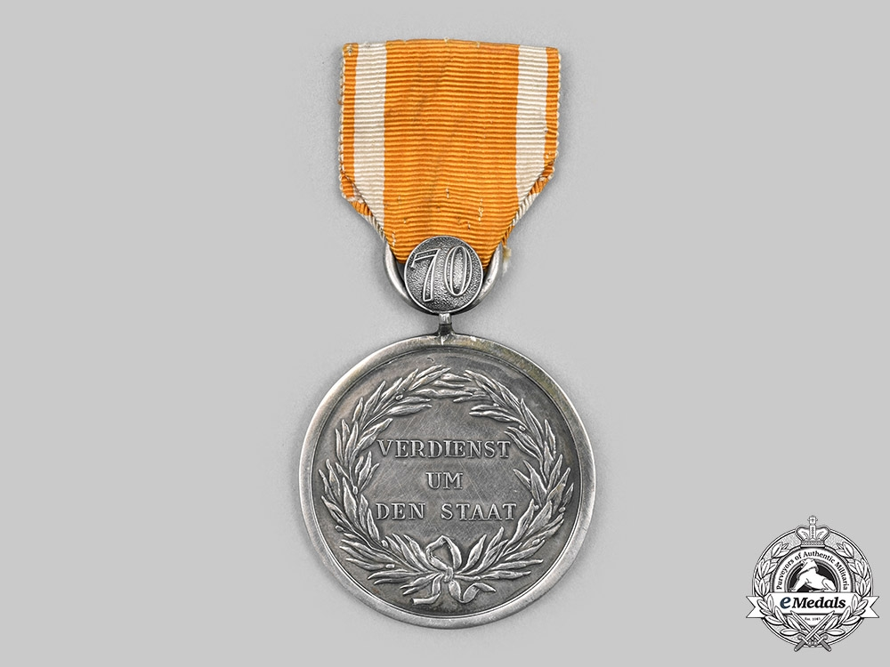 eMedals-Prussia, Kingdom. A General Honour Decoration with 70-Year Clasp