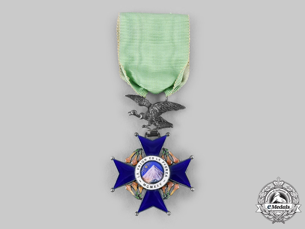 eMedals-Bolivia, Republic. A National Order of the Andean Condor, Knight c.1960