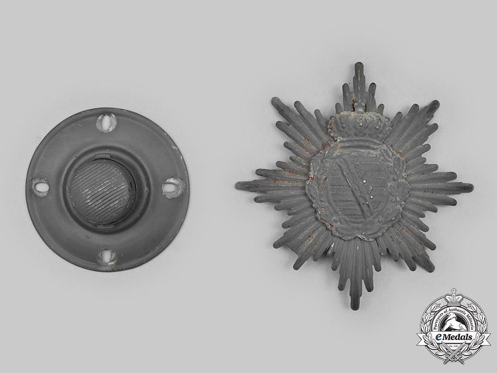 eMedals-Saxony, Kingdom. A Set of Pickelhaube Insignia