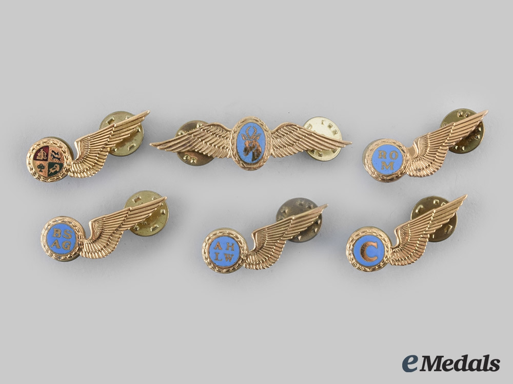 eMedals-South Africa, Republic. Six South African Air Force Badges