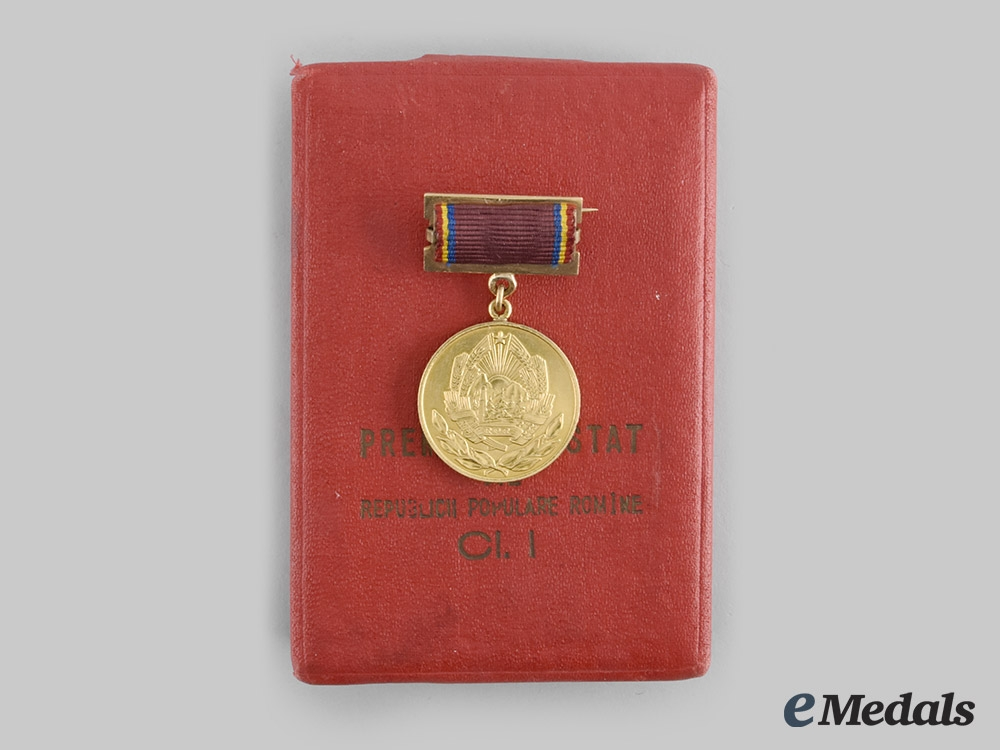 eMedals-Romania, People's Republic. A State Award of the Romanian People's Republic, I Class, with Case, c.1960