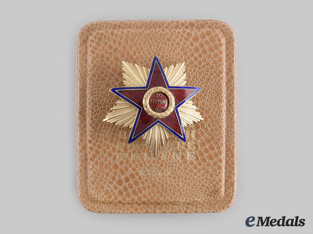 eMedals-Romania, Republic. An Order of the Star of the People's Republic, I Class with Case, c.1950