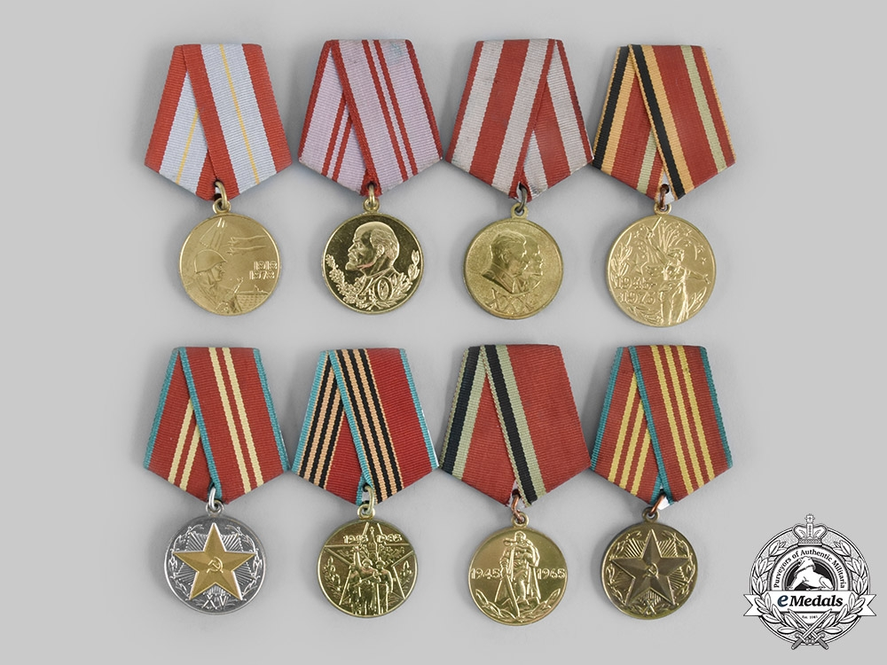 eMedals-Russia, Soviet Union. A Lot of Eight Commemorative Medals