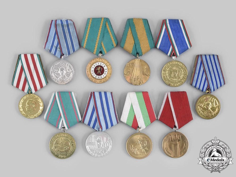 eMedals-Bulgaria, People's Republic. Ten Medals