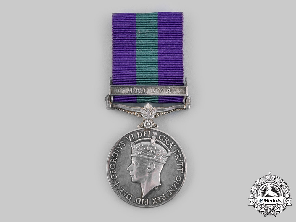 eMedals-United Kingdom. General Service Medal 1918-1962, to a member of the Singapore Police