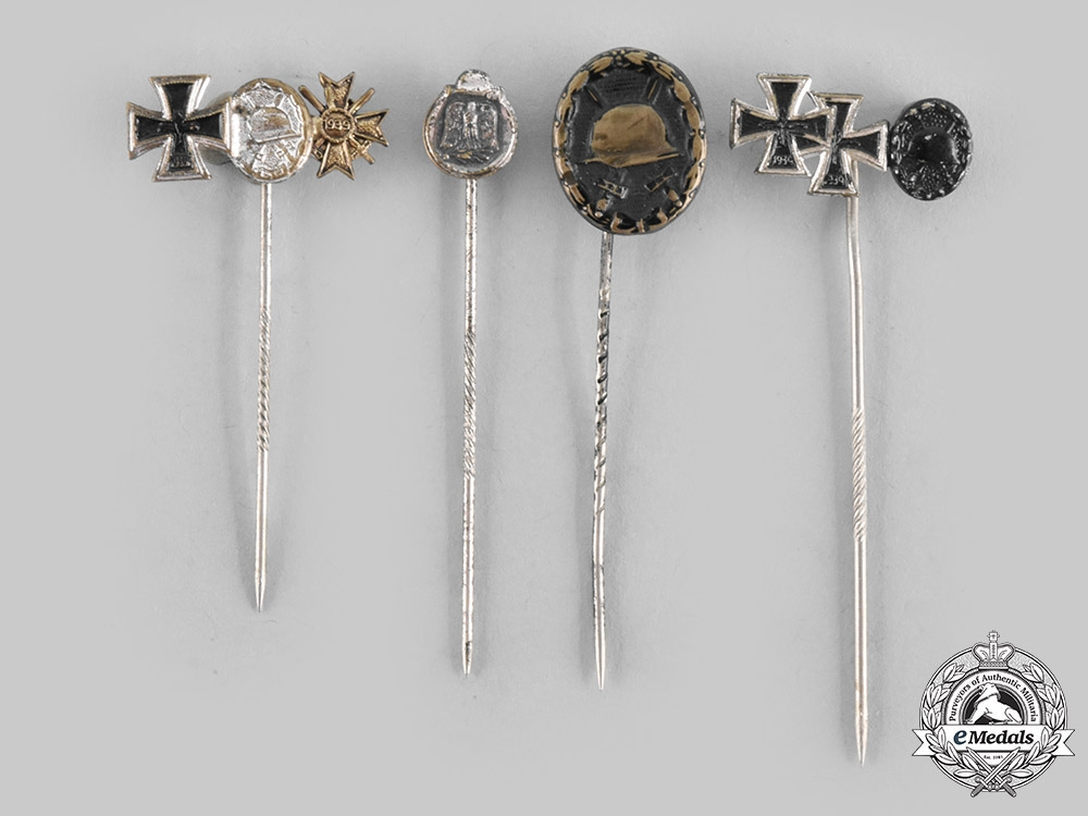 eMedals-Germany, Federal Republic. A Lot of Wehrmacht Medal Stick Pins, 1957 Versions