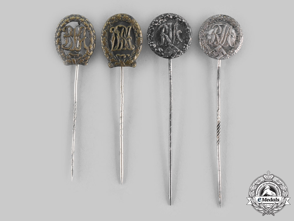 eMedals-Germany, Third Reich. A Lot of Sports Badge Stick Pins