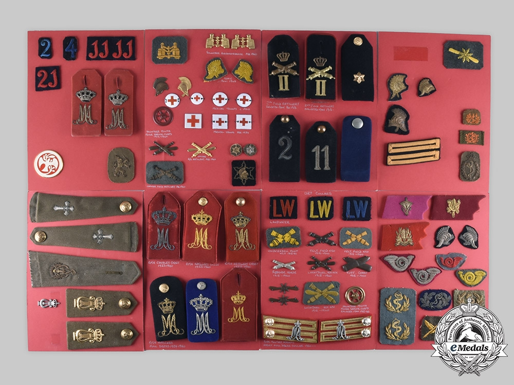 eMedals-Netherlands, Kingdom. Lot of 169 Armed Forces Insignia, c. 1865-1982