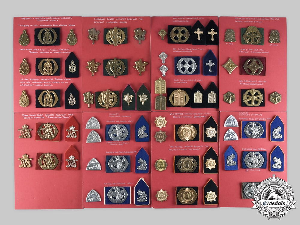 eMedals-Netherlands, Kingdom. Lot of 156 Army Insignia, c. 1900-1959