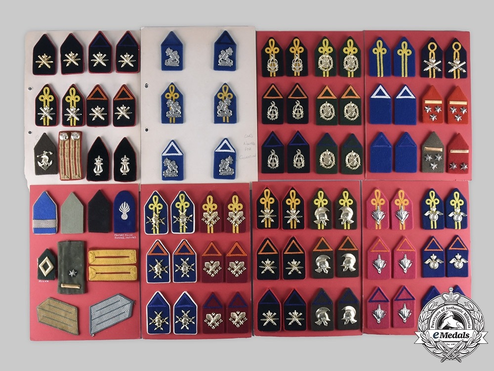 eMedals-Netherlands, Kingdom. Lot of 111 Armed Forces Uniform Insignia c. 1950s-1960s