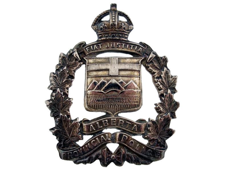 eMedals-Alberta Provincial Police Cap Badge