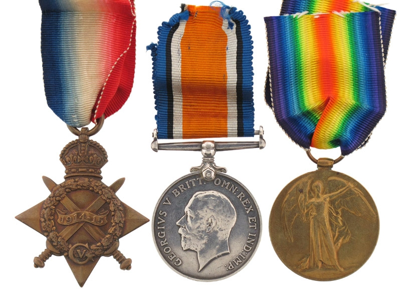 eMedals-1914-15 Star Trio, 1st Canadian Inf. Battalion